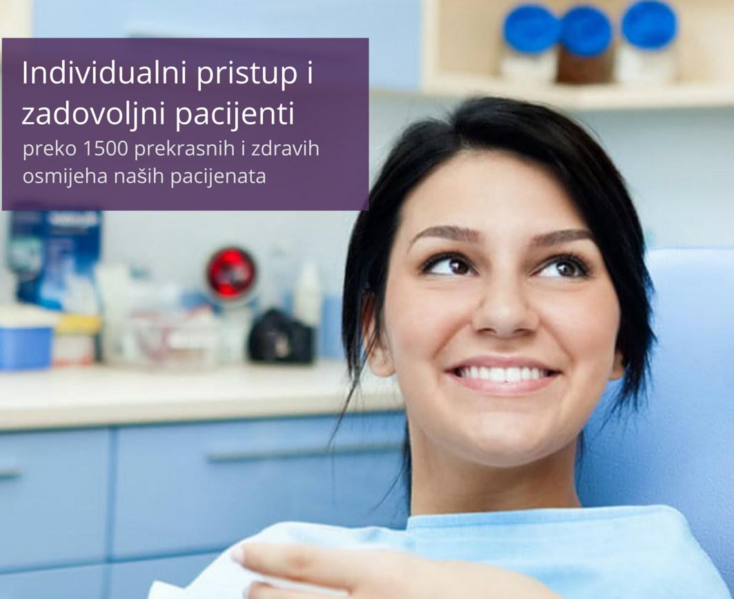 Poliklinika VISODENT zadovoljna pacijentica
